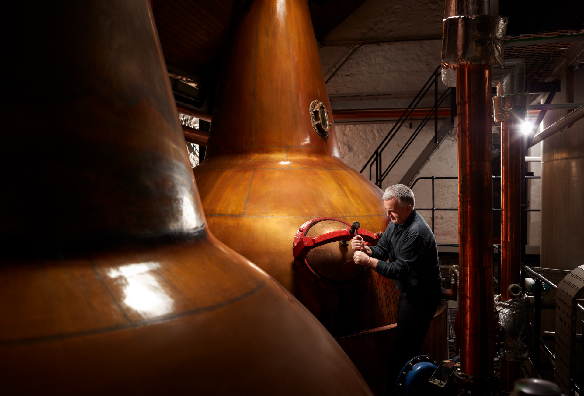 Balblair whisky stills